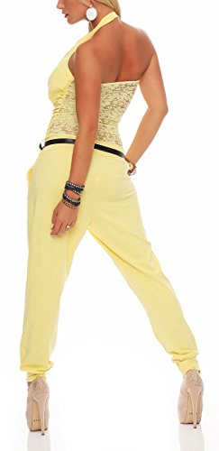 malito Jumpsuit Body Catsuit Playsuit Casual 6616 Mujer Talla Única amarillo