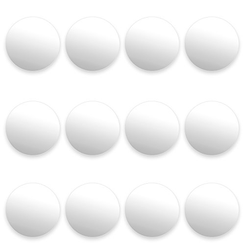 12 Pack of Smooth White Foosballs for Standard Foosball Tables & Classic Tabletop Soccer Game Balls...