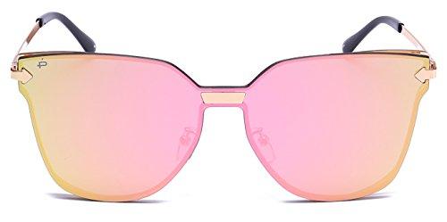 """PRIVÉ REVAUX """"The Madam"""" Handcrafted Designer Futuristic Sunglasses For Women (Gold)"""