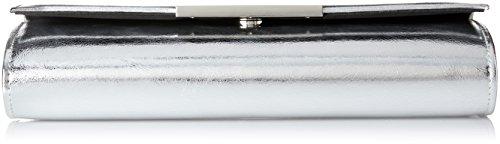 Buffalo Bag BWG-05 PU 168695 Damen Clutches 25x13x4 cm (B x H x T) Silber (Silver) 8vFXOXQb