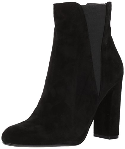 Steve Madden Women's Effect Ankle Boot, Medium Black Suede