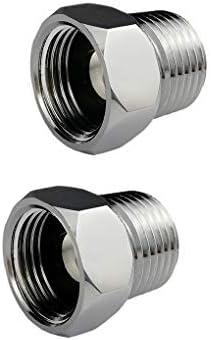 Gazechimp Adaptador Plateado de Barril de Tonelada de PP+Laton Resistente Rosca 80 mm Boca 45/° con /φ16 mm