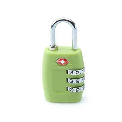 Tinksky TSA Approved Locks Security Luggage Locks 3-Digit Combination Password Locks Padlocks (Green)