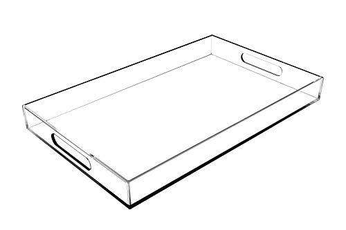 CLEAR SERVING TRAY - 16