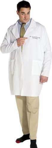 Lab Coat Seymour Bush Adult Costume - One Size]()
