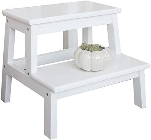 2 escalones Taburete Escalera de cocina Escaleras de madera Taburetes pequeños para pies Estante de flores portátil de interior / Banco de zapatos / Estante de almacenamiento (Tamaño: 40 * 24 * 50 cm): Amazon.es: Hogar