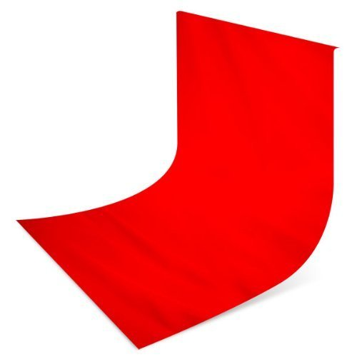 ePhotoinc 10 x 10 ft Solid RED Photography Studio Video Background Backdrop 1010RED