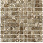 - Mother Of Pearl Shell Mosaic Tile. (10 Sheets, Pearl Anchor Gray Flat 1x1 Squares)
