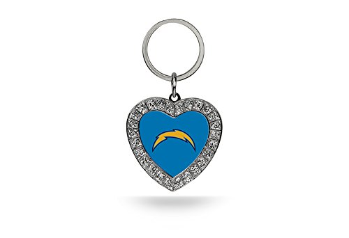 NFL San Diego Chargers Rhinestone Heart Keychain (Key Diego Chargers San Ring)