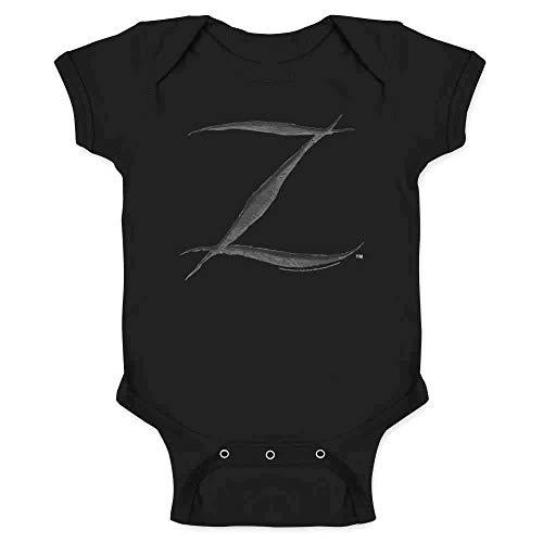 Pop Threads Zorro Big Cut Z Halloween Costume Black 6M Infant Bodysuit -