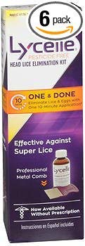 Lycelle Head Lice Elimination - 1 Kit, Pack of 6 by Lycelle
