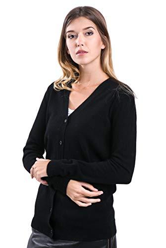 Performance V-neck Sweater Vest (cashmere 4 U Women's 100% Pure Cashmere V Neck Sweater Cardigan -Button Front Long Sleeve with Side Pockets)