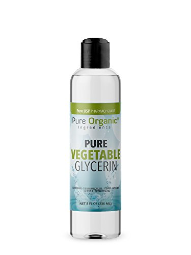 Vegetable Glycerin (8 oz.) by Pure Organic Ingredients, Food & USP Pharmaceutical Grade, Kosher, Vegan, Hypoallergenic Moisturizer And Skin Cleanser ()