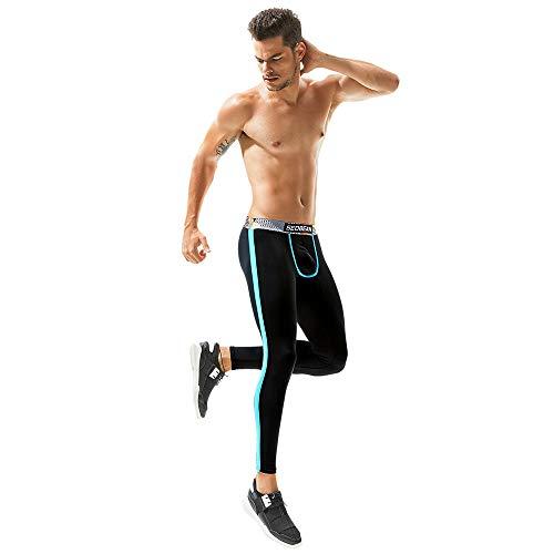 Collant Confortevole E Morbido Autunno Uomo Pantaloni Cotone Invernali Stampati Slim In Caldi Sportivi Leggings Nero Yunyoud Traspirante Da Resistente 7vS1wx7q