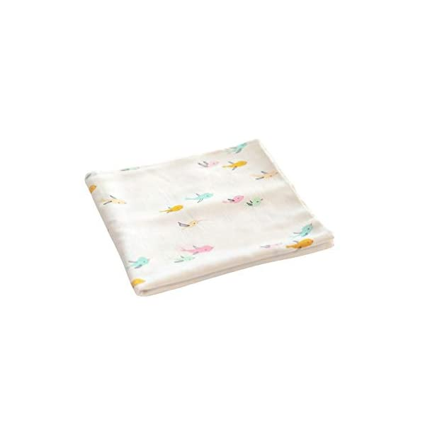 Warm, Soft, Comfortable Swaddle Baby Blanket for Sensitive Skin (Bird)