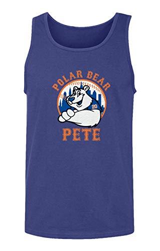 (SMARTZONE New York Fans Alonso Polar Bear Pete Baseball Men's Tank Top (Royal, X-Large))