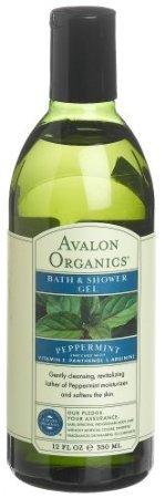 Avalon Organics Peppermint Bath And Shower Gel, 12-Ounce Bottle (Pack of 2) (Organics Avalon Peppermint Bath)