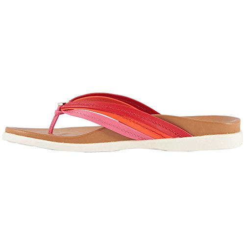 Palm Catalina Vionic Sandals Leather Pink Womens Red 560EcqFS4