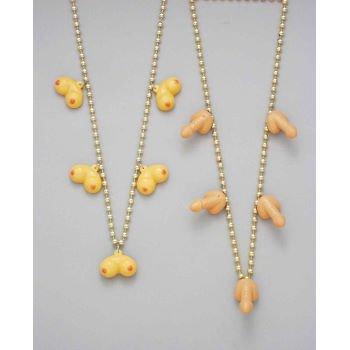 Forum Novelties 56218 Gold Bead Penis Necklace