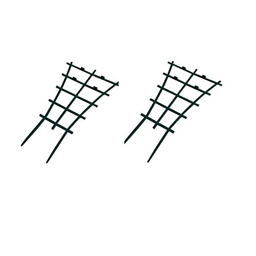 "Mr Garden Garden Trellis For Mini Climbing Plant Pot Support Morning Glory Trellis 5.9"" W x 9.8"" H 2 Pack Dark Green"