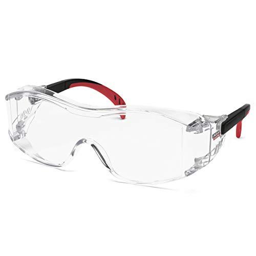 (Lincoln Electric Safety Glasses | Fits Over Prescription Glasses | Adjustable Frame| Clear Lens |K2968-1)