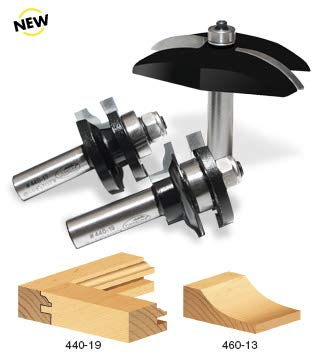 Timberline TRS-280 Cove Raised Panel 1/2-Inch Shank Door Making Router Bit Set, 3-Piece