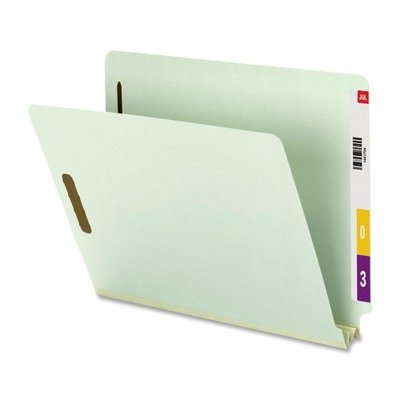 (3 Pack Value Bundle) SMD34715 Two Inch Expansion Folder, Two Fasteners, End Tab, Letter, Gray Green, 25/Box