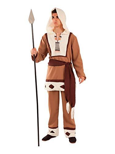 DISBACANAL Disfraz Esquimal marrón para Adulto - Único, L ...