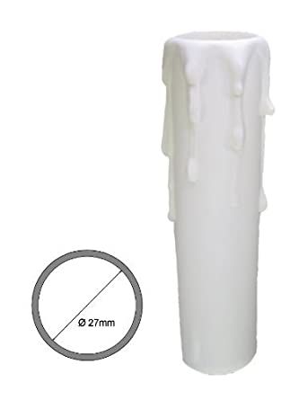 E14 Fassungh/ülse ~ Kerzenh/ülse 100mm Kunststoff Wei/ß /Ø 23//26mm