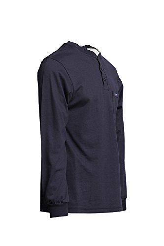 NFPA 70E Lapco FR FRT-HJE Gry LAR Flame Resistant Henley Tees 100/% Cotton Jersey Knit Gray HRC 2 7 oz Large