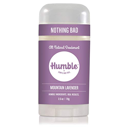 Humble All Natural Deodorant, Aluminum and Paraben Free, Cruelty Free Men's and Women's Deodorant, Mountain Lavender, Pack of 1