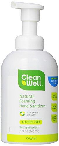 CLEANWELL все природные Вспенивание дезинфицирующее средство для рук, с оригинальным запахом, 8-унция (в упаковке 3)