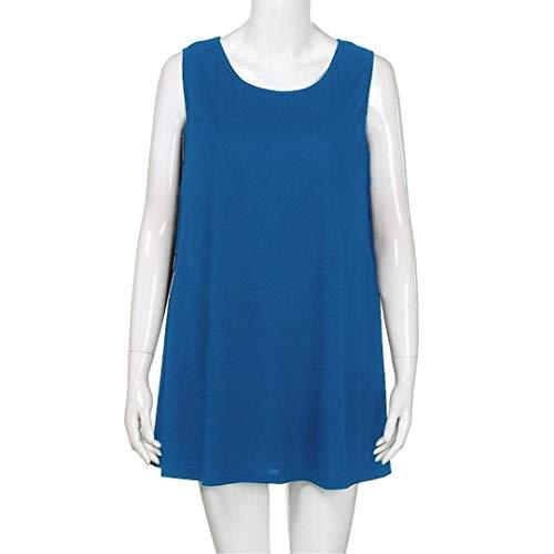Magliette Moda Eleganti Donna Collo Stlie Manica Camicetta Corta b Libero Estivi O Tempo Cucitura Relaxed Mare Blau Bluse Shirts Grazioso Tunica 8Barq8PSw