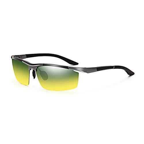 y sol de Aluminio Aviador y B Gafas UV magnesio Noche Retro día Running para para Hombres polarizador Vogue Pq5nxxd