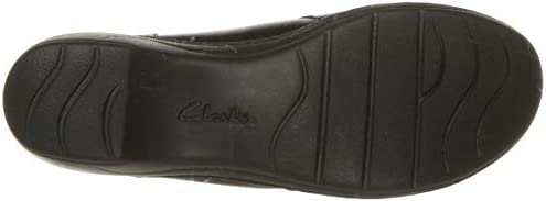 CLARKS Women\'s Channing Fiona Loafer, Black Leather, 75 M US