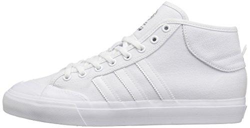 new style ae3aa 8ac0c adidas Originals Men s Matchcourt Mid Running Shoe, White, ...