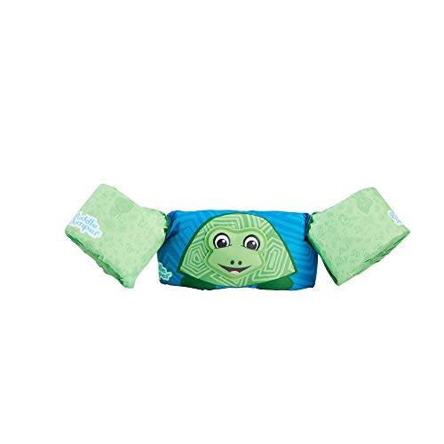 (Stearns Puddle Jumper Kids Deluxe 3D Life Jacket | Premium Life Vest for Children with 3D Character, Turtle, 30-50 Pounds )