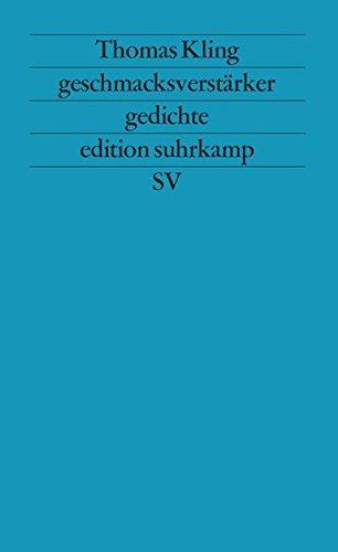 geschmacksverstrker-gedichte-1985-1988-edition-suhrkamp