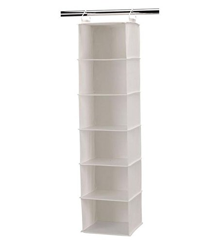 Household Essentials 01812 Six-Shelf Sweater Organizer , Cotton blend