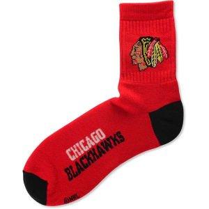 NHL Chicago Blackhawks Men's Team Quarter Socks, Large ()