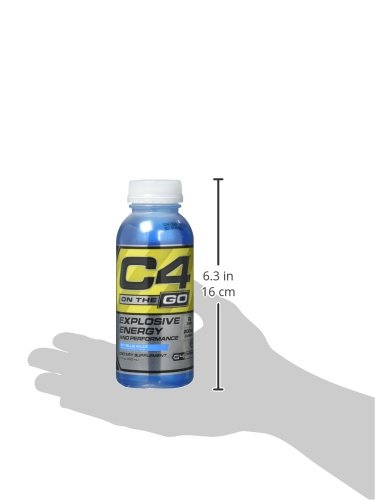 Cellucor C4 on the Go Explosive Energy and Performance Supplement, Icy Blue Raspberry, 12 Count