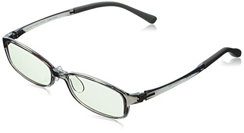 JINS PC Glasses Computer Eyewear Gray (Light Brown Lenses, Cuts blue Light by - Online Usa Prescriptions