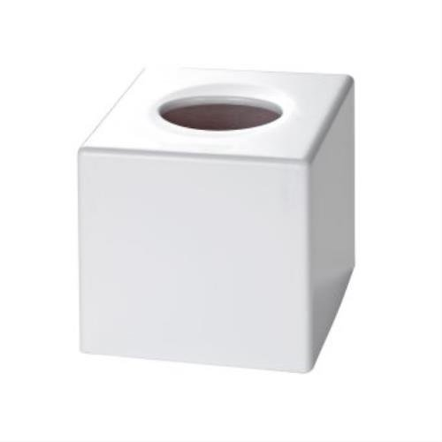 Corby of Windsor, Satin White Cube Tissue Box Cover (Case Qty 6)