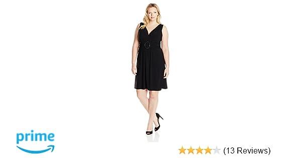 Star Vixen Womens Plus-Size Sleeveless O-Ring Maxidress