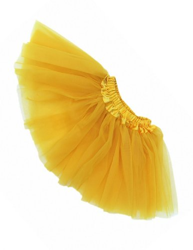 Buenos Ninos Girl's Ballet Tutu Assorted Colors (Yellow),One Size