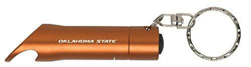 Oklahoma State University-Stillwater - LED Flashlight Bottle Opener Keychain - -