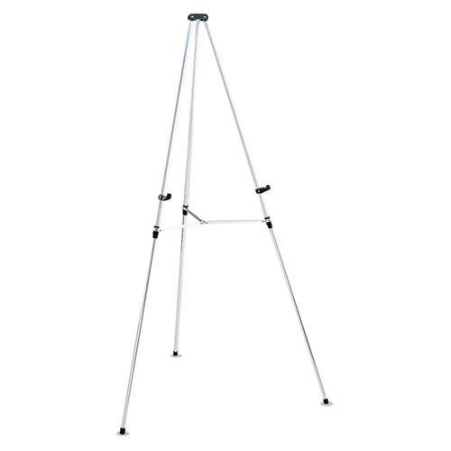 "Quartet - Lightweight Telescoping Tripod Easel, 38"" to 66"" High, Aluminum, Silver 50E (DMi EA"