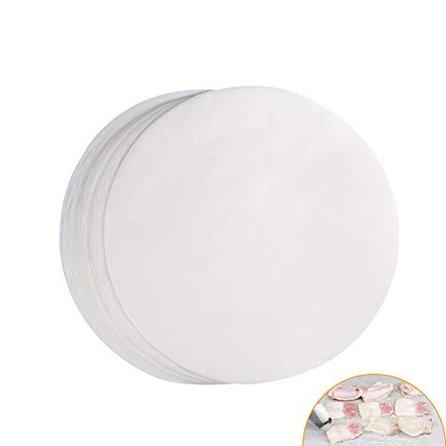 Delaman BBQ Paper (Set of 100) Non-stick Round BBQ Papers, 11'' Barbecue Tin Foil Paper