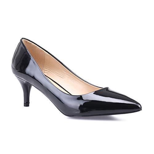 Vestir Mujer Negro Sintético Zapatos 50640 La De Modeuse wYHIqS