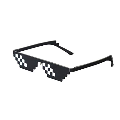 Caaju Thug Life Sunglasses Pixelated Mosaic Glasses Party Glasses MLG Shades (12 Pixels) Made in India